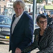 NLD/Amsterdam/20181027 - Herdenkingsdienst Wim Kok, Jetta klijnsma en partner Ard van Rijn