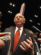 Albuquerque, NM, USA, 09.04.2003: The first of six Presidential Debates held among the Democrate canditades for President 2004. The debate was held at the Popejoy audtiorim at the New Mexico University in Albuquerque.<br /> <br /> Joe Lieberman in the spin room.<br /> <br /> Photo: Orjan F. Ellingvag/Aftenposten/Corbis