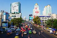 Thailande, Bangkok, quartier de Siam Square, Rajprarop road // Thailand, Bangkok, Siam Square area, Rajprarop road