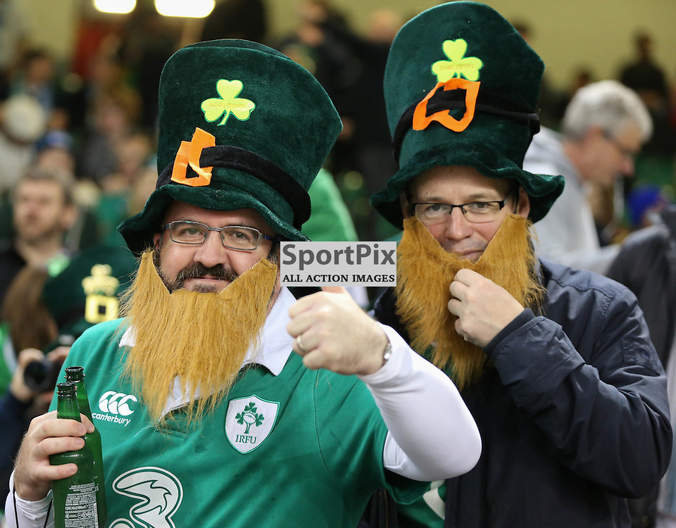 Ireland supporters prepare for the Rugby World Cup Quarter Final, Ireland v Argentina, Sunday 18 October 2015, Millenium Stadium, Cardiff (Photo by Mike Poole - Photopoole)