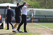 Forest Green Rovers manager, Mark Cooper shouts instructions during the EFL Sky Bet League 2 match between Forest Green Rovers and Grimsby Town FC at the New Lawn, Forest Green, United Kingdom on 5 May 2018. Picture by Shane Healey.