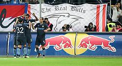 16.09.2010, Red Bull Arena, Salzburg, AUT, UEFA Euroleague , Red Bull Salzburg vs Manchester City, im Bild Torjubel Manchester City, EXPA Pictures © 2010, PhotoCredit: EXPA/ R. Hackl