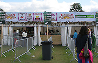 Bar at music festival