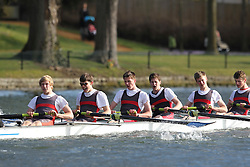 2012.02.25 Reading University Head 2012. The River Thames. Division 1. Kings College School Boat Club A J18A 8+