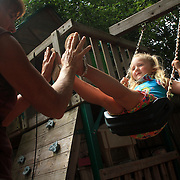 Children play at Pennie's Daycare in Wilmington, N.C. Pennie's daycare is a five-star in home daycare.