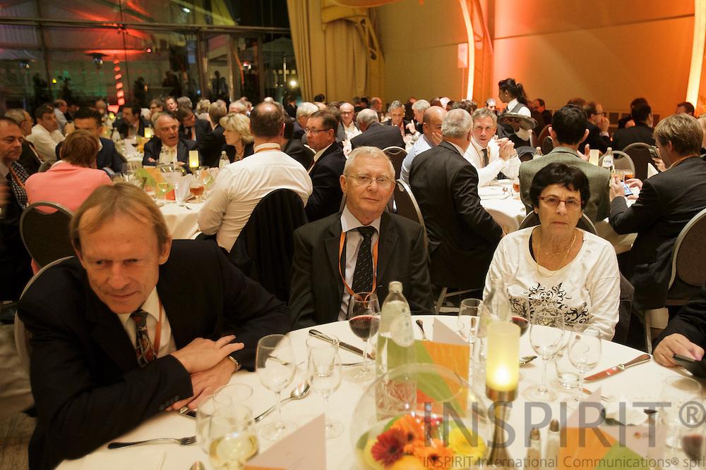 AIJN Brussels office team at the Juice Summit in Antwerp 15 - 16 October 2014. Photo: Erik Luntang
