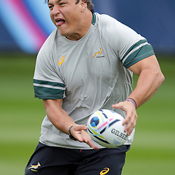 EASTBOURNE, ENGLAND - SEPTEMBER 14: Coenie Oosthuizen during the 2015 Rugby Wolrd Cup Springboks training session at Eastbourne College on September 14, 2015 in Eastbourne, England. (Photo by Steve Haag Emirates)