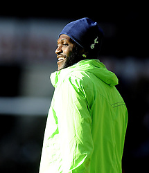 Tottenham Hotspur's Emmanuel Adebayor - Photo mandatory by-line: Joe Meredith/JMP - Tel: Mobile: 07966 386802 19/01/2014 - SPORT - FOOTBALL - Liberty Stadium - Swansea - Swansea City v Tottenham Hotspur - Barclays Premier League
