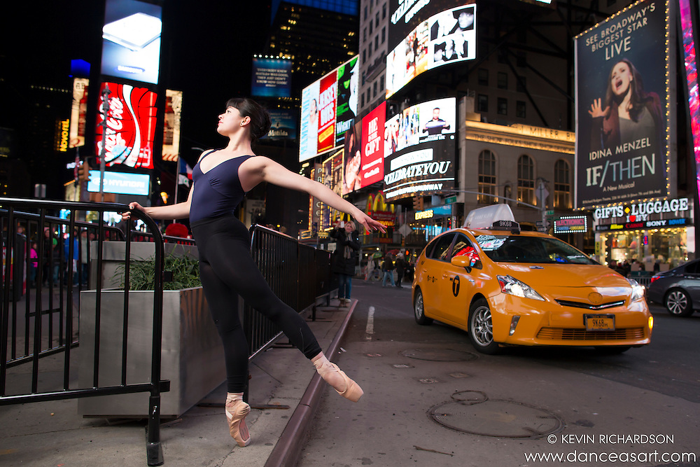 Times Square at Night Dance As Art The New York Photography Project with Ballerina Cassandra Martin