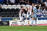4th August 2018, Simple Digital Arena, Paisley, Scotland; Ladbrokes Premiership football, St Mirren versus Dundee; Danny Mullen of St Mirren celebrates after scoring for 1-0