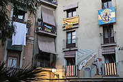 Buildings in the city center calling for vote on Independence call on the elections of day 27S.