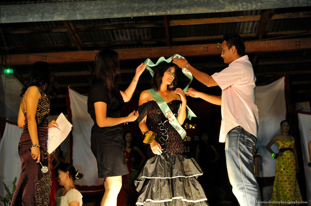 Beauty Contest in Menzi, a small village on the island of Mindanao in the  Philippines 2011