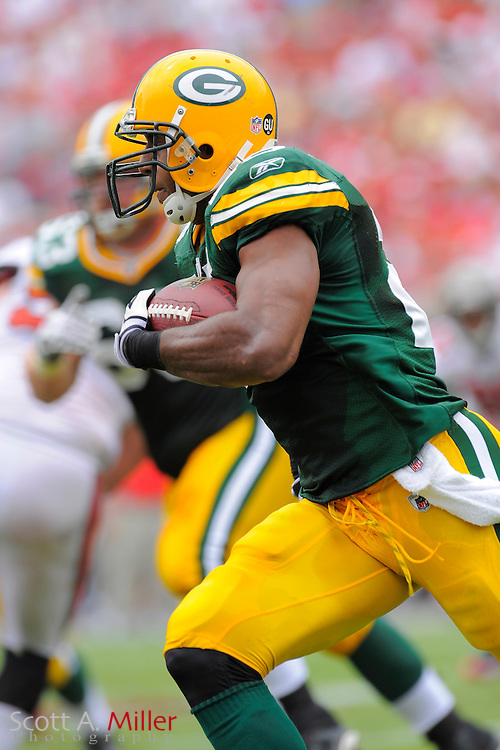 Tampa, Florida, Sept. 28, 2008: Green Bay Packers running back Ryan Grant (25) in action against the Tampa Bay Buccaneers at Raymond James Stadium....©2008 Scott A. Miller