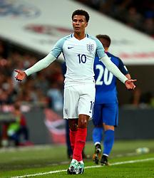 Dele Alli of England cuts a frustrated figure - Mandatory by-line: Robbie Stephenson/JMP - 04/09/2017 - FOOTBALL - Wembley Stadium - London, United Kingdom - England v Slovakia - 2018 FIFA World Cup Qualifier