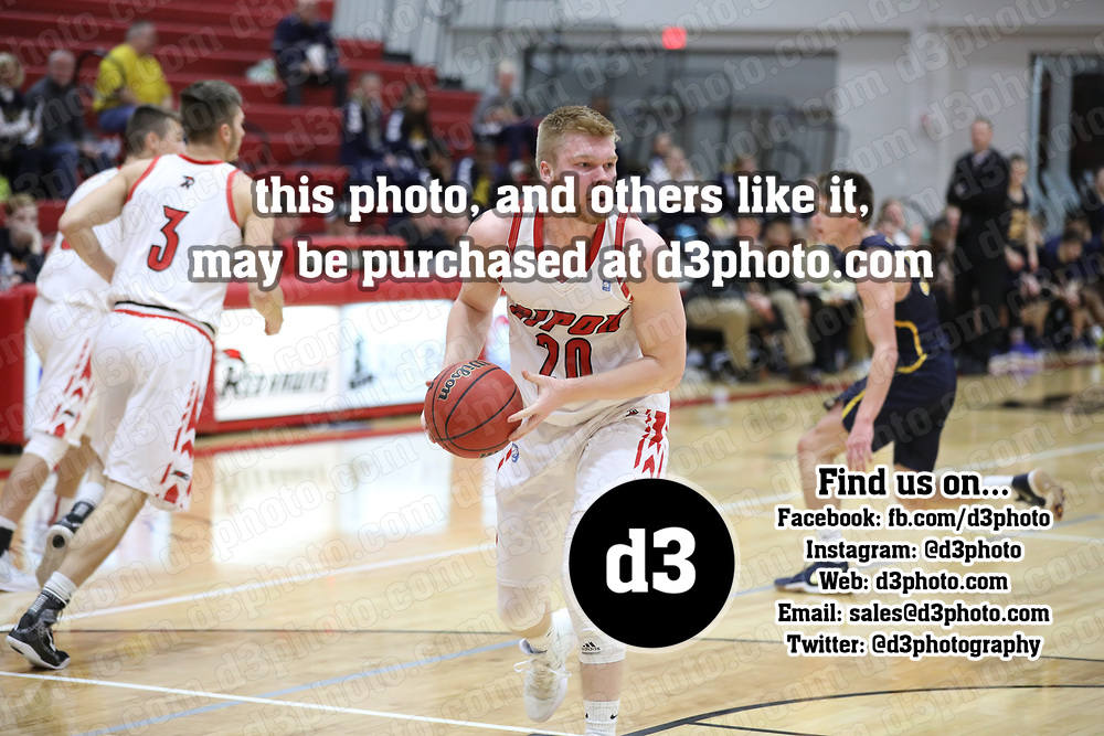 Men's Basketball: Ripon College Red Hawks vs. Beloit College Buccaneers