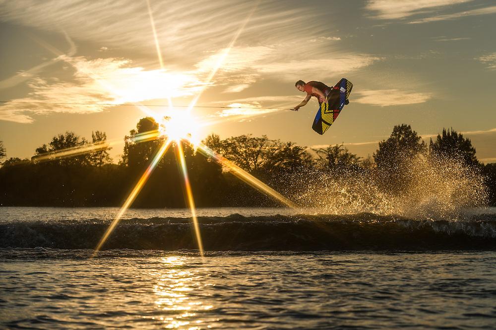 Gordon Harrison shot for Liquid Force Wakeboards in Orlando, Florida.