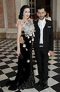 "12.JULY.2011. VERSAILLES<br /> <br /> DITA VON TEESE AT CLOSING PARTY FOR THE HAUTE-COUTURE COLLECTIONS AND OPENING OF THE EXHIBITION ""LE XVIII EME SIECLE AU GOUT DU JOUR, COUTURIERS ET CREATEURS DE MODE AU GRAND TRIANON"" AT VERSAILLES CASTLE, FRANCE.<br /> <br /> BYLINE: EDBIMAGEARCHIVE.COM<br /> <br /> *THIS IMAGE IS STRICTLY FOR UK NEWSPAPERS AND MAGAZINES ONLY*<br /> *FOR WORLD WIDE SALES AND WEB USE PLEASE CONTACT EDBIMAGEARCHIVE - 0208 954 5968*"