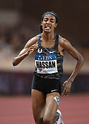 Sifan Hassan (NED) wins the Brave Like Gabe women's  mile in a world record 4:12.33 during the Herculis Monaco in an IAAF Diamond League meet at Stade Louis II stadium in Fontvieille, Monaco on Friday, July 12, 2019. (Jiro Mochizukii/Image of Sport)