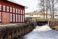 Sweden, Karlsborg. Old factory in Forsvik.