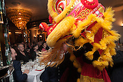 KEVIN SPACEY; TONY BLAIR; CHERIE BLAIR; DRAGON, Chinese New Year dinner given by Sir David Tang. China Tang. Park Lane. London. 4 February 2013.
