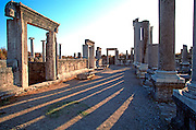 TURKEY, GREEK AND ROMAN Perge; Ionic columns, stoa, agora market