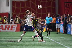 August 1, 2018 - Atlanta, Georgia, United States - MLS All-Star defender MICHAEL AMIR MURILLO, 62 (New York Red Bulls) fight for the ball during the 2018 MLS All-Star Game at Mercedes-Benz Stadium in Atlanta, Georgia.  Juventus F.C. defeats  MLS All-Stars defeat  1 to 1  (Credit Image: © Mark Smith via ZUMA Wire)