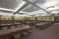 Interior image of The Basic School Dining Hall at Quantico Marine Base by Jeffrey Sauers of Commercial Photographics