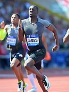 Kirani James (GRN) wins the 400m in 44.23 during IAAF Birmingham Diamond League meeting at Alexander Stadium on Sunday, June 5, 2016, in Birmingham, United Kingdom. Photo by Jiro Mochizuki