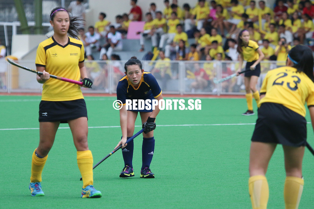 Sengkang Hockey Stadium, Wednesday, May 18, 2016 &mdash; Powerhouses Victoria Junior College (VJC) defeated Anglo-Chinese Junior College (ACJC) 5-0 to claim the National A Division Girls Hockey Championship trophy, making it their 14th title in a row.<br /> <br /> https://www.redsports.sg/2016/05/20/national-a-div-hockey-girls-vjc-acjc/
