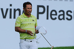 26.06.2015, Golfclub München Eichenried, Muenchen, GER, BMW International Golf Open, Tag 2, im Bild Thongchai Jaidee (THA) // during Day two of the BMW International Golf Open at the Golfclub München Eichenried in Muenchen, Germany on 2015/06/26. EXPA Pictures © 2015, PhotoCredit: EXPA/ Eibner-Pressefoto/ Schreyer<br /> <br /> *****ATTENTION - OUT of GER*****