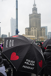 October 24, 2016 - Warsaw, Poland - Polish women are gathering in the streets of several cities across the country to protest a proposal for a new abortion law on 24 October, 2016 in Warsaw, Poland  (Credit Image: © Krystian Dobuszynski/NurPhoto via ZUMA Press)