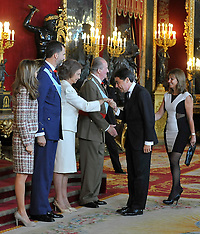 OCT 12 2012 Royals National Holiday Reception Spain