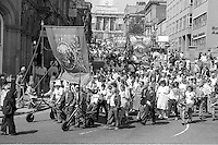 Darfield Main Branch banner. Yorkshire Area NUM 100th Demonstration and Gala, Barnsley.