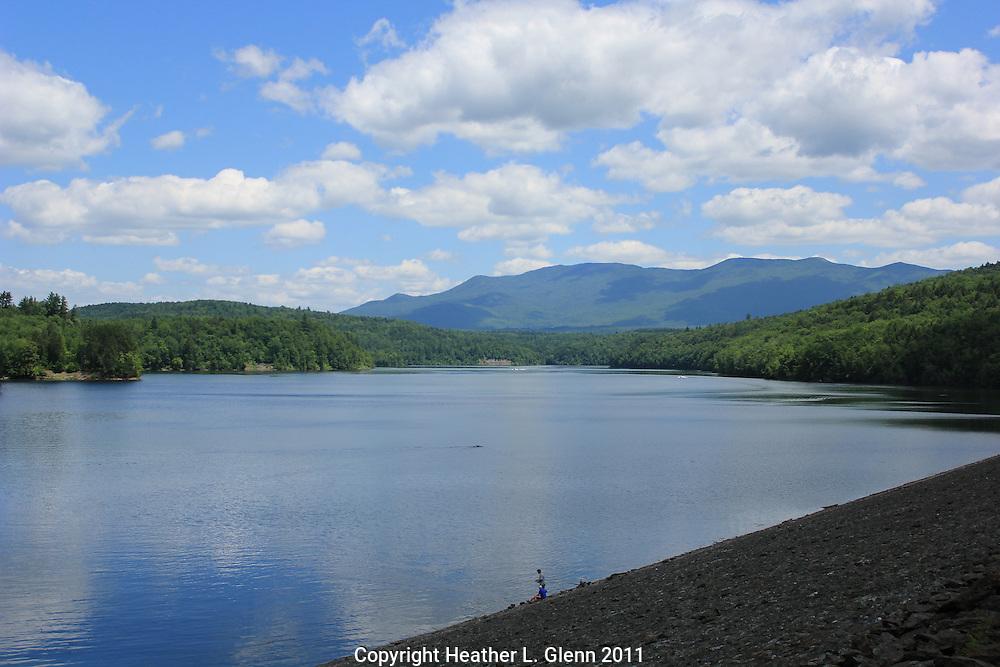 Summer Day at the Waterbury Reservoir, Vermont