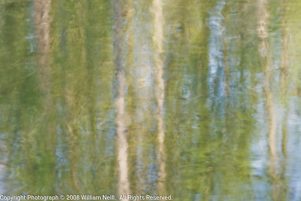 Reflections, Manzanita Lake, California  2008