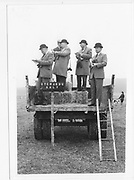 Stewards at the Oxford University Point to Point. Kingston Blount. 1983 approx.