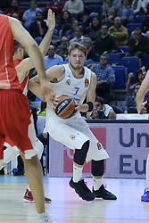 December 1, 2017 - Madrid, Madrid, Spain - Luka Doncic, #7 of Real Madrid in action during the 2017/2018 Turkish Airlines EuroLeague Regular Season game between Real Madrid and Crvena Zvezda mts Belgrade at Wizink Arena on December 1, 2017 in Madrid, Spain. (Credit Image: © Oscar Gonzalez/NurPhoto via ZUMA Press)