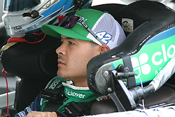 September 29, 2018 - Charlotte, NC, U.S. - CHARLOTTE, NC - SEPTEMBER 29: #42: Kyle Larson, Chip Ganassi Racing, Chevrolet Camaro Clover/First Data in the garages during the Monster Energy NASCAR Cup Series Playoff Race Bank of America ROVAL 400 on September 29, 2018, at Charlotte Motor Speedway in Concord, NC. (Photo by Jaylynn Nash/Icon Sportswire) (Credit Image: © Jaylynn Nash/Icon SMI via ZUMA Press)