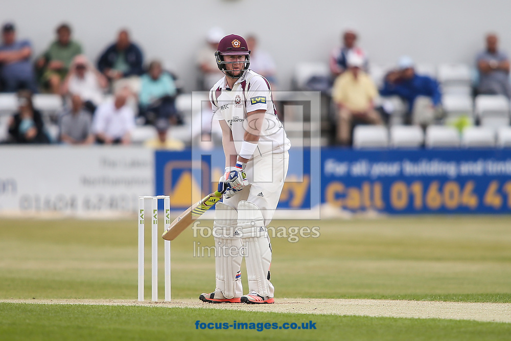 Alex Wakely of Northamptonshire waits during the LV County Championship Div Two match at the County Ground, Northampton<br /> Picture by Andy Kearns/Focus Images Ltd 0781 864 4264<br /> 08/06/2015