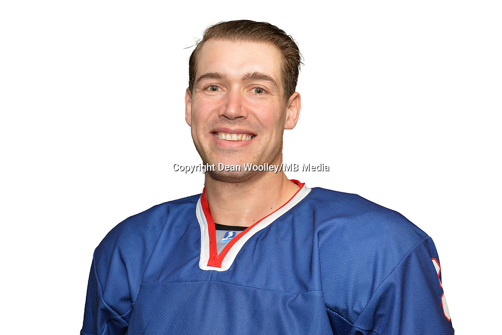 BUDAPEST, HUNGARY - APRIL 18:  Great Britain Ice Hockey Team Forward, Matthew Myers. IIHF World Championship Division 1A (Photo by Dean Woolley)