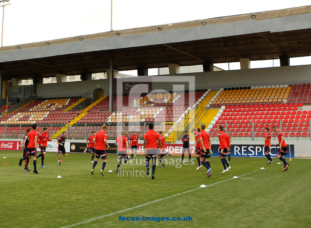 Scotland U17s Train at the Hibernians Stadium, Paola<br /> Picture by Tom Smith/Focus Images Ltd 07545141164<br /> 17/05/2014