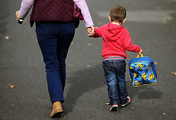 Embargoed to 0001 Monday April 30 File photo dated 13/10/15 of a woman and a child, as a new small-scale survey, conducted by the National Association of Head Teachers (NAHT) suggests that many nurseries and childminders are struggling with the cost of offering families 30 hours of free childcare a week.
