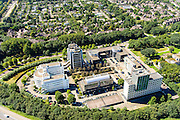 Nederland, Utrecht, Utrecht, 23-08-2016; Daltonlaan, Dalton Park. Hogeschool Utrecht. <br /> <br /> aerial photo (additional fee required);<br /> copyright foto/photo Siebe Swart