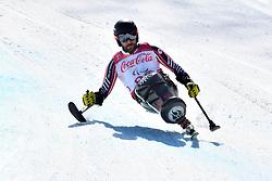 OATWAY Kurt LW12-1 CAN competing in ParaSkiAlpin, Para Alpine Skiing, Super G at PyeongChang2018 Winter Paralympic Games, South Korea.