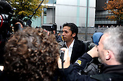 03/11/2011 - Pakistan cricketers match fixing sentence - Crown Court Southwark London - Mohammad Asif makes his way into court. - Photo: Charlie Crowhurst / Offside.