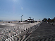 The boardwalk on Coney Island in Brooklyn, New York.