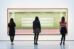 © Licensed to London News Pictures. 24/01/2018. London, UK. PhotograpH titled Prada II, 1997 by artist ANDREAS GURSKY is on display as part the first major UK retrospective of the German photographer. The showcase also marks the Haywood galleries 50th anniversary following its two year refurbishment. Photo credit: Ray Tang/LNP