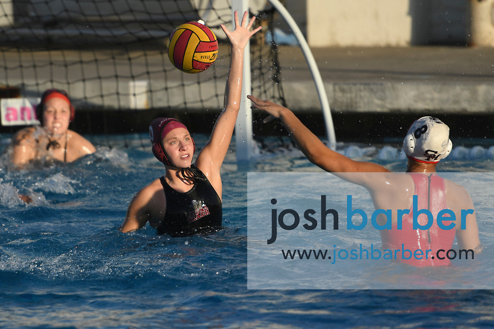 during the CIF-SS Division 1 Girls Water Polo First Round San Marcos v Laguna Beach at Newport Harbor High School on Thursday, February 15, 2018 in Newport Beach, California. San Marcos won in overtime 8-7. (Photo/Josh Barber) CIF-SS Division 1 Girls Water Polo First Round San Marcos v Laguna Beach at Newport Harbor High School on Thursday, February 15, 2018 in Newport Beach, California. San Marcos won in overtime 8-7. (Photo/Josh Barber)