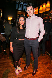 Repro Free: 9/10/2014 Raishia Hannagh and Eoin McDonagh pictured at The Odeon, Dublin for the surprise Guinness Amplify Live gig. Music fans in Dublin were treated to an extra special experience as three of most highly acclaimed musicians of 2014, Kidnap Kid, Jess Glynn and Rudimental, played surprise performances. <br /> Guinness Amplify connects the freshest new music talent with audiences all over the country, as well as providing them with some of the resources and industry expertise they need to help them along the way. Picture Andres Poveda<br /> <br /> Full details of the Guinness Amplify programme are available on www.guinnessamplify.com.  Enjoy Guinness Sensibly. Visit www.drinkaware.ie<br /> ENDS<br /> For further information please contact:                                                                              <br /> Julie Blakeney, WH, on 0863420794 or Kristin Fox, WH, on 0872211916