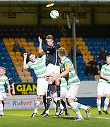 Dundee's Calvin Colquhoun rises high for a corner -  Celtic v Dundee,  SPFL Development League at Cappielow<br /> <br />  - &copy; David Young - www.davidyoungphoto.co.uk - email: davidyoungphoto@gmail.com